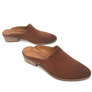 Zodiac Brown Leather Mules with Heels